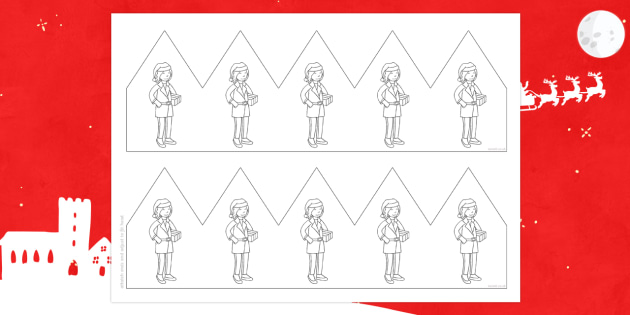 Mrs Claus Party Hat Template Activity - M&S Christmas, Marks, Spencers, Advert, Mrs Christmas, Mrs Claus, hat, decoration, party, celebratio