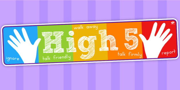 High Five How To Deal with Bullying Display Banner - australia