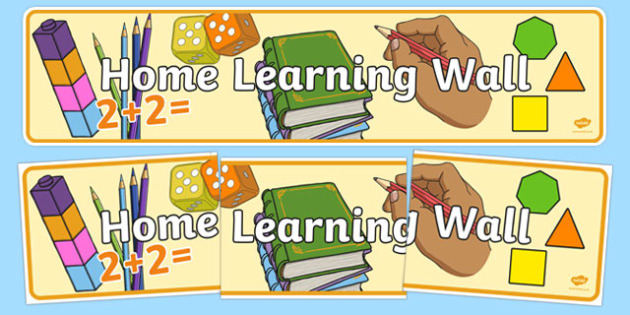 Home Learning Wall Display Banner - home learning wall, display banner