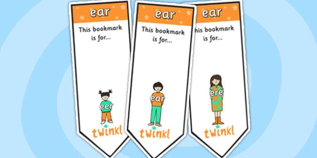 ear Sound Family Editable Bookmarks - ear sound family, editable bookmarks, bookmarks, editable, behaviour management, classroom management, rewards, award