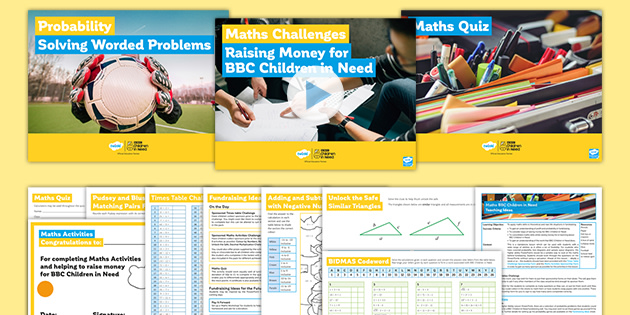 BBC Children in Need Maths Differentiated Lesson Pack