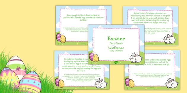 Easter Display Fact Cards Polish Translation - polish, easter, display, facts, fact cards