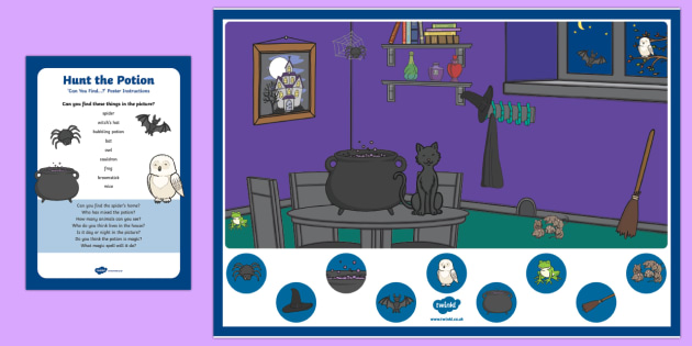 Hunt the Potion Can You Find...? Poster and Prompt Card Pack