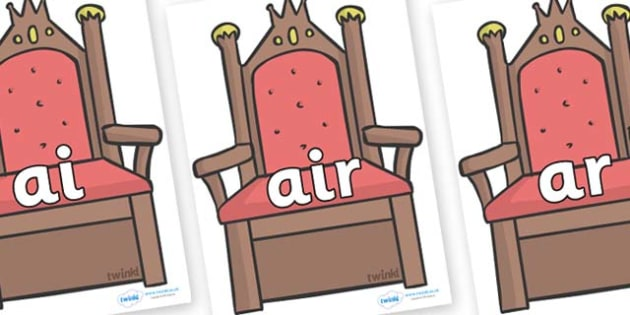 Phase 3 Phonemes on Thrones (Plain) - Phonemes, phoneme, Phase 3, Phase three, Foundation, Literacy, Letters and Sounds, DfES, display