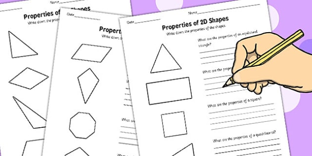 Year 5 Properties of 2D Shapes Activity Sheet Pack - activity, sheets, worksheet