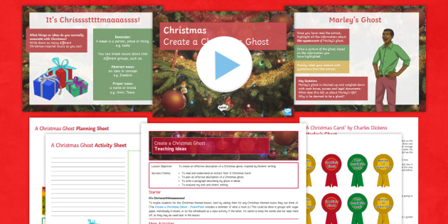 Create a Christmas Ghost Lesson Pack