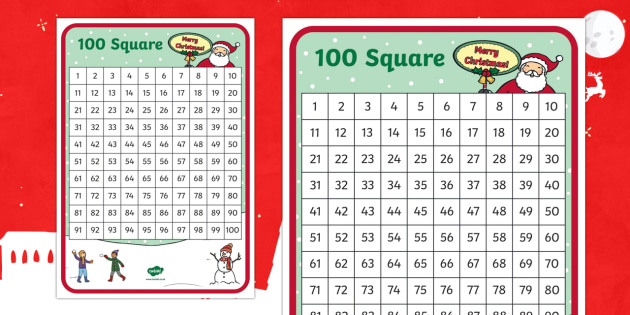 Christmas Themed Number Square
