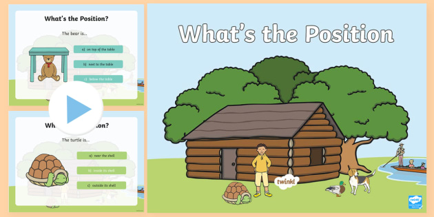 Foundation What's the Position PowerPoint - Mathematics, Foundation Year, Measurement and Geometry, Location and transformation, ACMMG010, posit