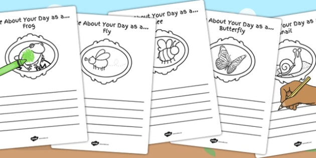 Write About Your Day as a Minibeast Worksheet / Activity Sheet - minibeast, worksheet