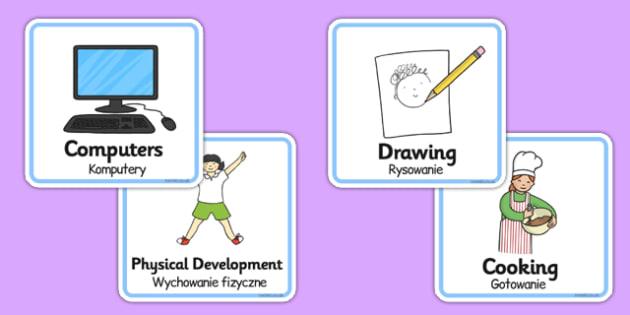 Visual Timetable for Nursery FS1 Polish Translation - polish, visual timetable, nursery