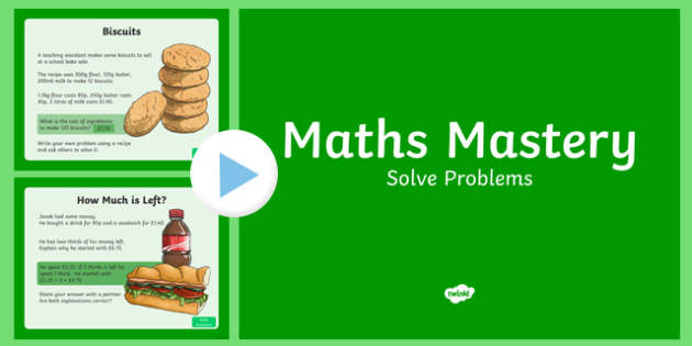 Year 6 Calculation Solve Problems Maths Mastery Activities PowerPoint
