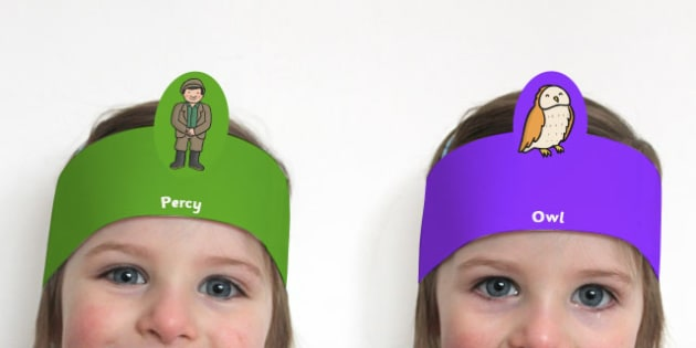 Role Play Headbands to Support Teaching on Percy the Park Keeper - roleplay, props