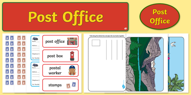 post office role play pack post office role play display post office. Black Bedroom Furniture Sets. Home Design Ideas
