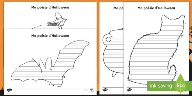 Maquettes De Forme Pour Poésie Mon Poème Dhalloween