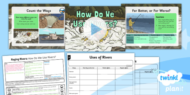 Geography Raging Rivers How Do We Use Rivers Year Lesson - Geography rivers