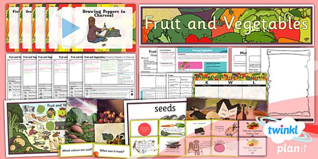 Art: Fruit and Vegetables LKS2 Unit Pack