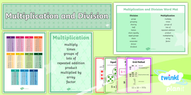 PlanIt Maths Y4 Multiplication and Division Display Pack