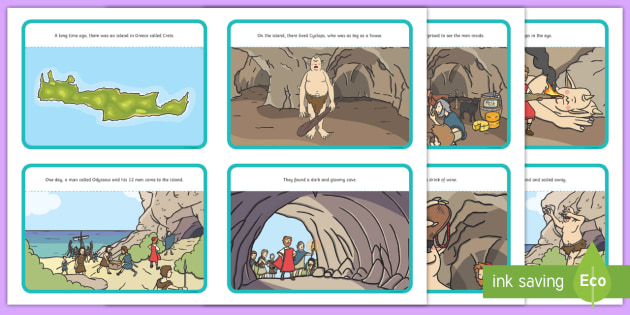 Odysseus And Cyclops Story Sequencing Myths Legends