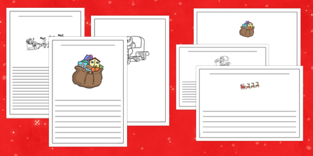 Letter to Father Christmas Writing Frame - letter, father christmas, writing frame