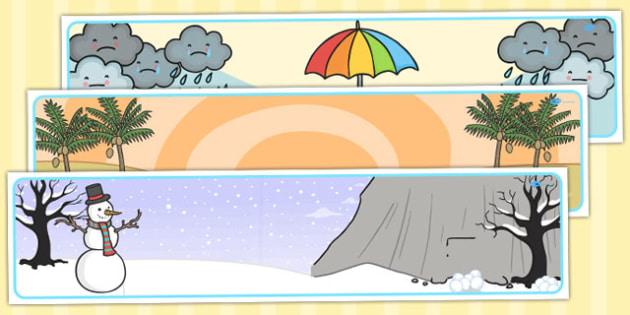 Winter Editable Banner For Publisher - seasons, weather, header