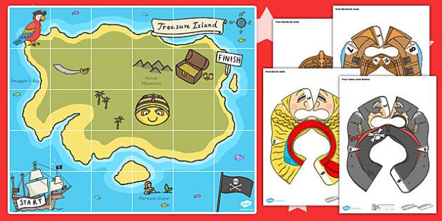 Treasure Map Bee Bot Resource Pack - treasure map, bee bot, bee-bot, pack