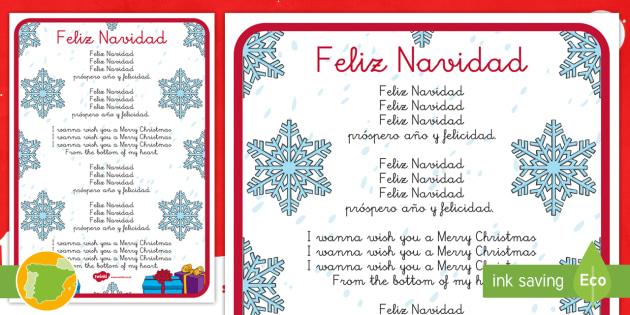Feliz Navidad Póster De La Letra Teacher Made