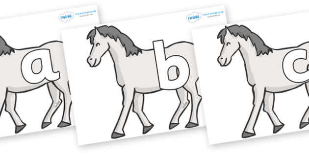 Phoneme Set on Horses - Phoneme set, phonemes, phoneme, Letters and Sounds, DfES, display, Phase 1, Phase 2, Phase 3, Phase 5, Foundation, Literacy