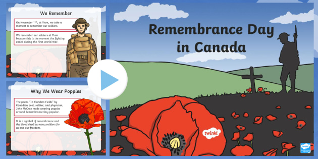 Remembrance Day in Canada PowerPoint
