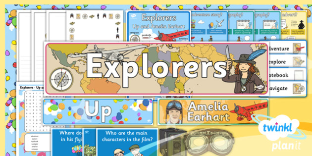 Explorers: Up and Amelia Earhart Y2 Display Pack - Adventure story, Disney, famous women, inventors, aviation, transport