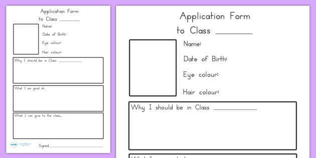 Transition Application To Class Worksheets - transition