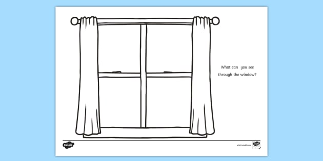 window frame coloring pages - photo#8