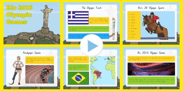 KS1 Rio Olympics 2016 Information PowerPoint - nz, new zealand, KS1, olympics, Rio, Brazil, information powerpoint