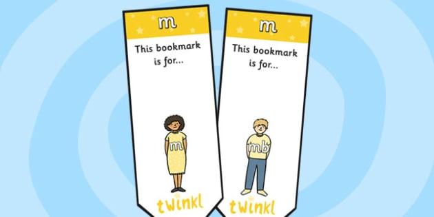 m Sound Family Editable Bookmarks - m sound family, editable bookmarks, bookmarks, editable, behaviour management, classroom management, rewards, awards