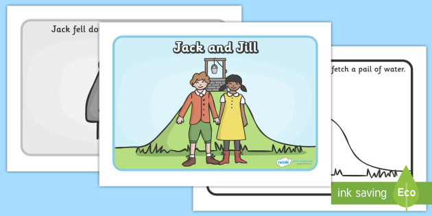 Jack and jill sequencing jack and jill nursery rhyme for Jack and jill stories