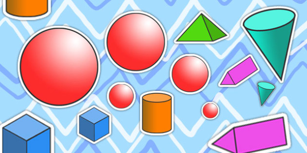 3D Shape Size Ordering Activity - 3D, shapes, size ordering