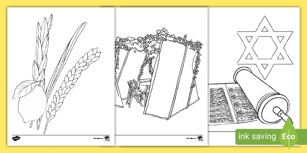 Sukkot Coloring Pages Feast Of The Tabernacles
