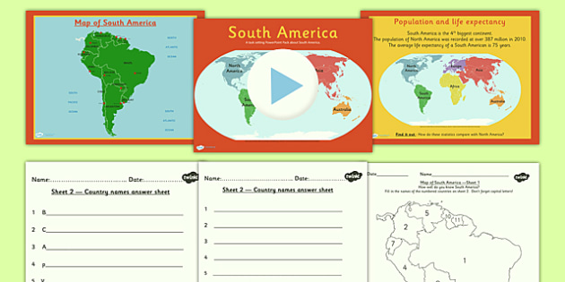 introduction to south america lesson teaching pack geography. Black Bedroom Furniture Sets. Home Design Ideas