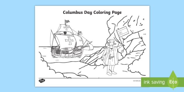 columbus day coloring page columbus day columbus christopher