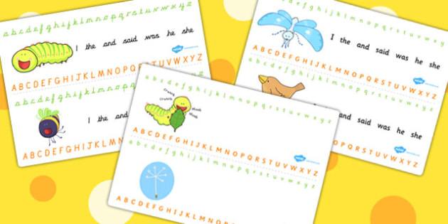 Alphabet Strips to Support Teaching on The Crunching Munching Caterpillar - visual aid