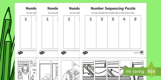Back to School Themed Number Sequencing Puzzles - Back to School Australia, back to school maths, back to school worksheet, back to school activity sh