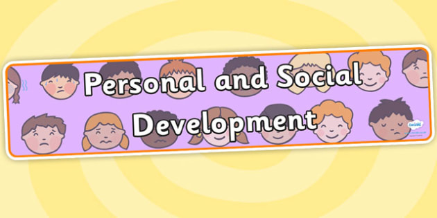 EYFS Learning Areas Personal and Social Development Display Banner - personal and social development banner, pshe banner, area banners, eyfs area banners