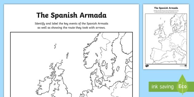 Ks2 the spanish armada map of europe worksheet activity sheet ks2 the spanish armada map of europe worksheet activity sheet spanish armada armada gumiabroncs Gallery