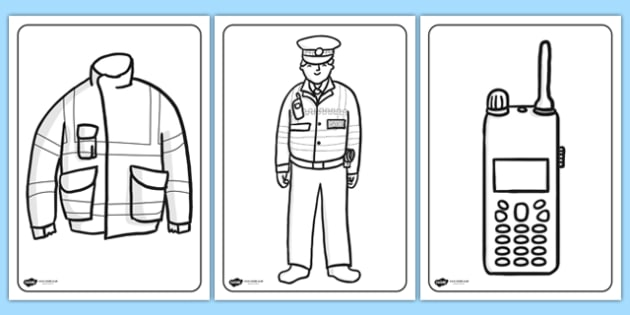 Police Colouring Pages police colouring colour colours