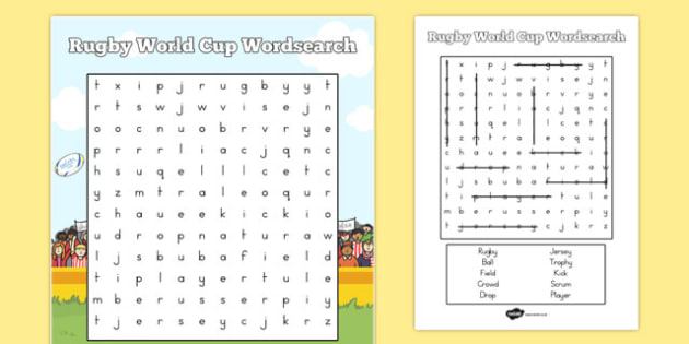 Rugby World Cup Wordsearch - australia, rugby world cup, wordsearch