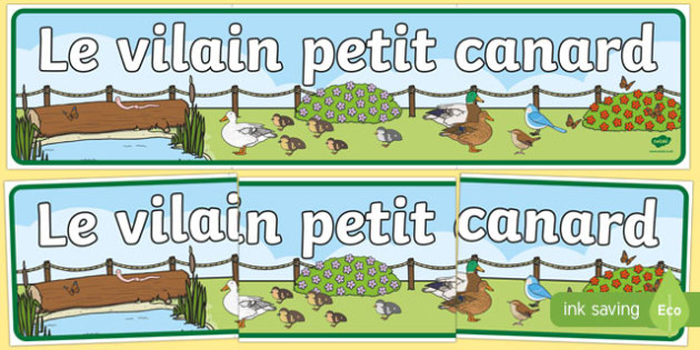 Banderole d'affichage pour Le vilain petit canard