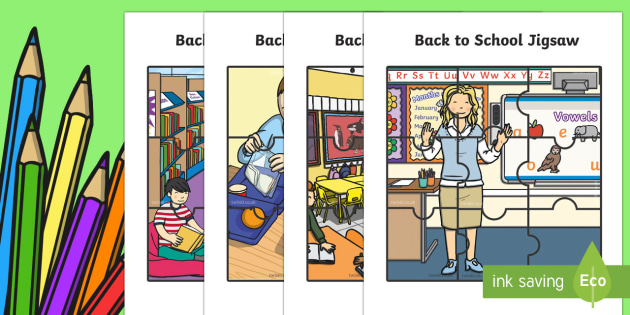 Back to School Jigsaw Puzzle Activity - back to school, jigsaw, puzzles, cut and paste puzzle,Australia