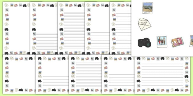 Memory Snapshot Themed Page Borders - memory, snapshot, page borders, borders, writing frame