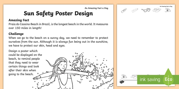 Sun Safety Poster Template