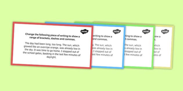 Dashes and Brackets Challenge Card - dashes, brackets, challenge cards