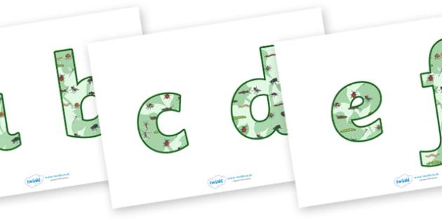 Display Lettering & Symbols (Minibeasts) - A-Z, A4, display, minibeast, minibeasts, Alphabet frieze, Display letters, Letter posters, A-Z letters, Alphabet flashcards